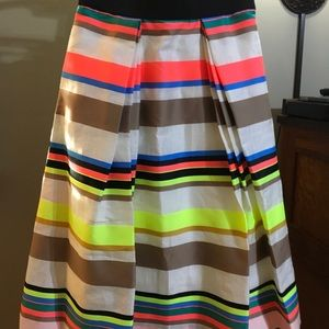 Full colorful striped party skirt by Milly